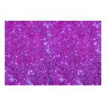 Pink Purple Glitter Sparkle Custom Design Poster