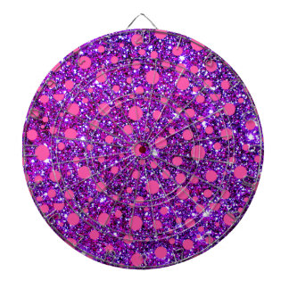 Pink & Purple Glittery Girlie Fashion Dartboard