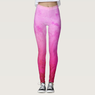 Pink, Purple , Happy Mood Custom Leggings