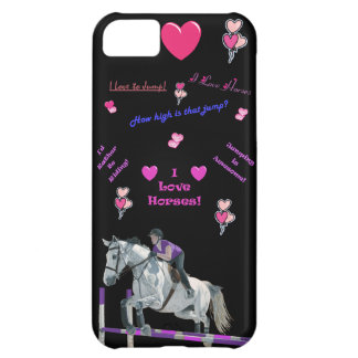 Pink & Purple Horse Lover iPhone 5 Case-Mate Case