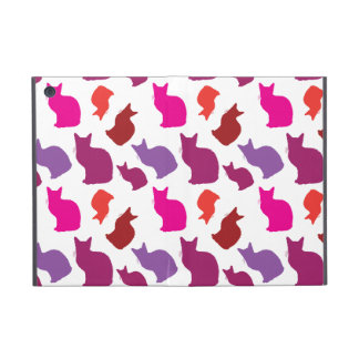 Pink Purple Kitty Cat Silhouettes Pattern Gifts iPad Mini Cover