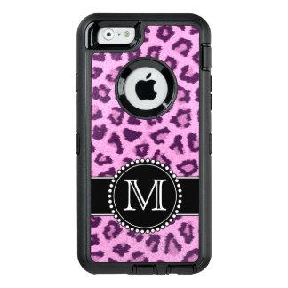 Pink, Purple, Leopard Skin Monogrammed Defender OtterBox Defender iPhone Case