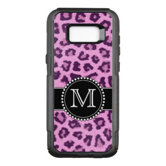 Pink, Purple, Leopard Skin Monogrammed OtterBox Commuter Samsung Galaxy S8+ Case