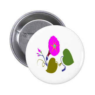 PINK PURPLE  LILLY LILY FLOWER 6 CM ROUND BADGE