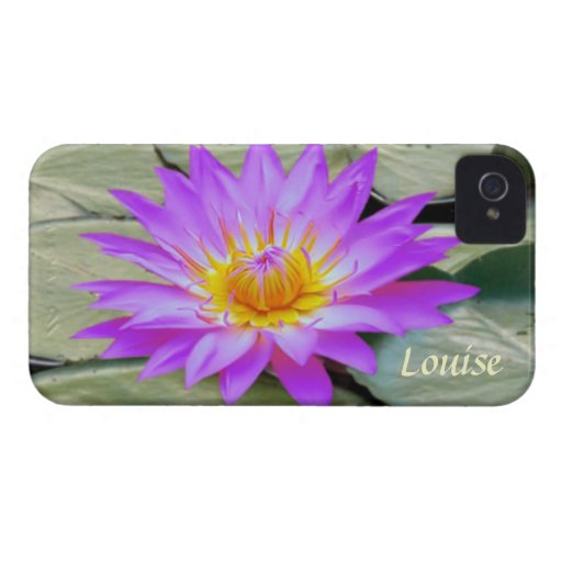 Pink purple Lotus flower Monogram Case-Mate Case iPhone 4 Case-Mate Case