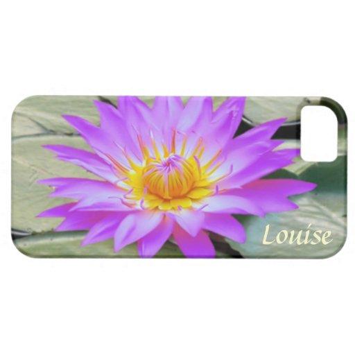 Pink purple Lotus flower Monogram Case-Mate Case iPhone 5 Cases