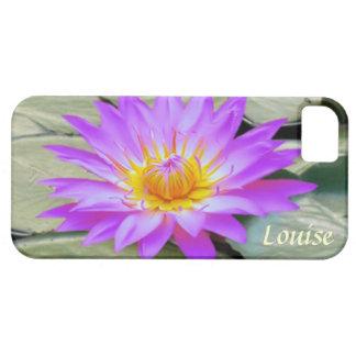 Pink purple Lotus flower Monogram Case-Mate Case iPhone 5 Covers