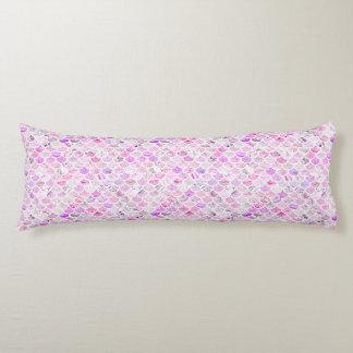 Pink & Purple Marble Mermaid Scales Body Cushion