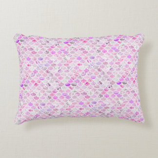 Pink & Purple Marble Mermaid Scales Decorative Cushion