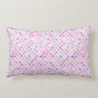 Pink & Purple Marble Mermaid Scales Lumbar Cushion