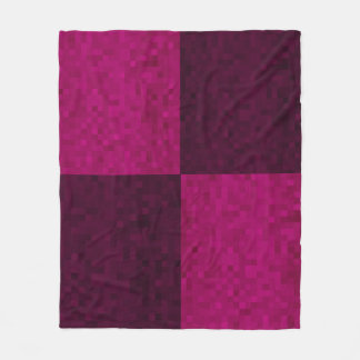 Pink Purple Mosaic Tile Pattern, Fleece Blanket