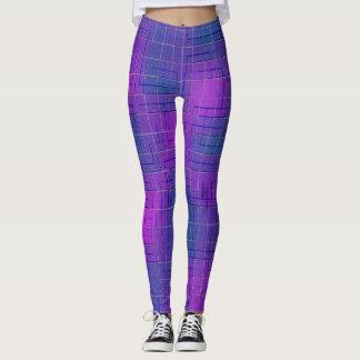 Pink & Purple Moto Fitness Leggings