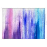 Pink Purple Paint Brush Strokes Painted Watercolor Greeting Card