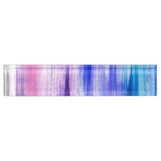 Pink Purple Paint Brush Strokes Painted Watercolor Nameplate