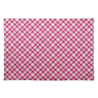 Pink purple plaid placemat