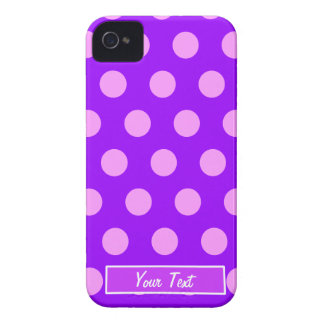 Pink/Purple Polka Dots - Personalize iPhone 4 Case-Mate Cases
