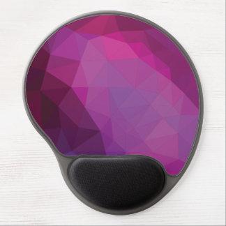 Pink Purple Polygonal Design Gel Mouse Pad