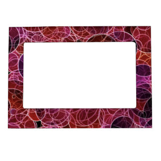 Pink_Purple_Red Pattern Magnetic Frame