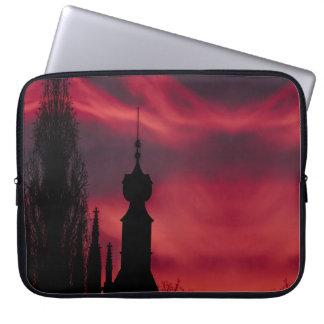 pink purple rustic laptop sleeve