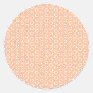 pink purple scores dotted scored samples polka round sticker