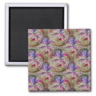 Pink Purple Seamless Pattern Bubbly Art Magnets