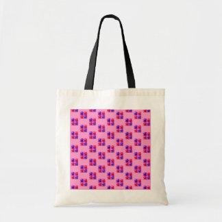 Pink & Purple Shiny Bling Gift Box Pattern Tote Bags