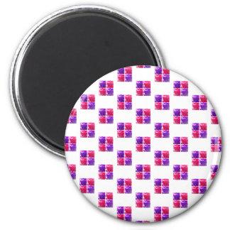 Pink & Purple Shiny Bling Gift Box Pattern Fridge Magnets
