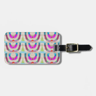 PINK Purple Sparkle Circle ETHNIC Wedding Deco ART Luggage Tags