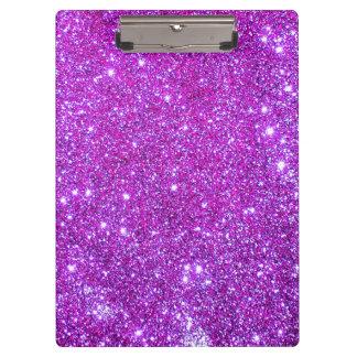 Pink Purple Sparkle Glitter Girly Clipboard 4