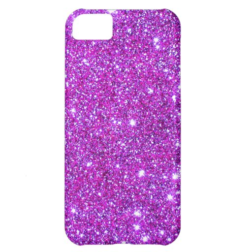 Pink Purple Sparkly Glam Glitter Designer iPhone 5C Covers