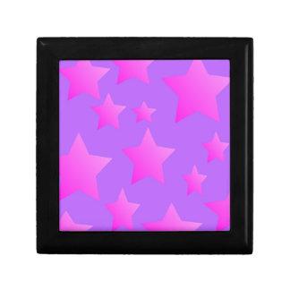 Pink/Purple Star Pattern Gift Box