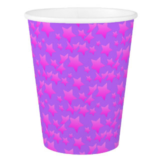 Pink/Purple Star Pattern Paper Cup