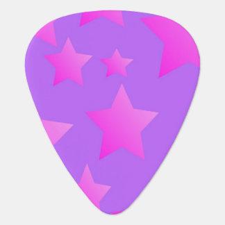 Pink/Purple Star Pattern Plectrum