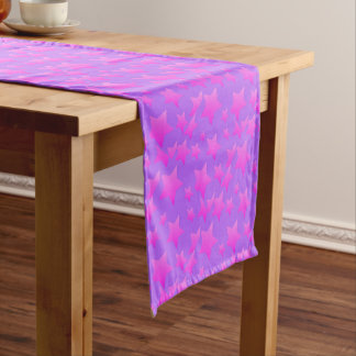 Pink/Purple Star Pattern Short Table Runner