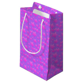 Pink/Purple Star Pattern Small Gift Bag