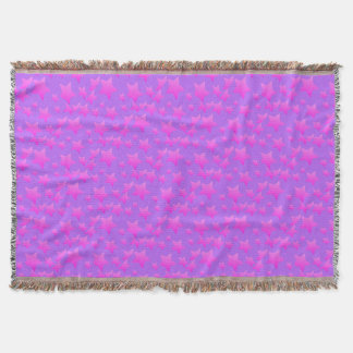 Pink/Purple Star Pattern Throw Blanket