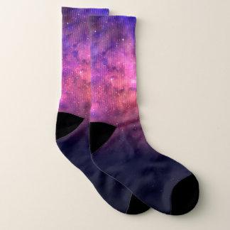 Pink Purple Starry Sky Cosmic Galaxy Sky Fire Glow Socks