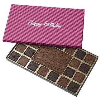 Pink & Purple Stripes - Happy Birthday Chocolates
