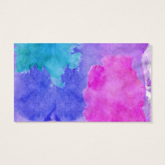 Pink, Purple, Teal, and Blue Watercolor Smudges Business