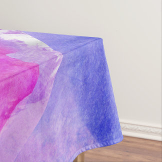 Pink, Purple, Teal, and Blue Watercolor Smudges Tablecloth