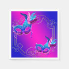 Pink Purple Teal Blue Masquerade Party Disposable Napkin