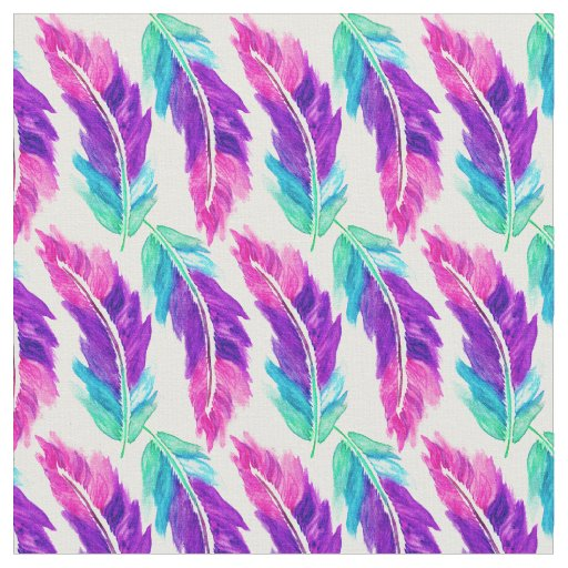 e5d4d50961d9 pink purple teal watercolor feathers pattern fabric zazzle co ukPurple And  Teal Design  9