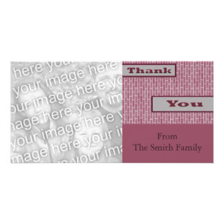 pink purple Thank You Card