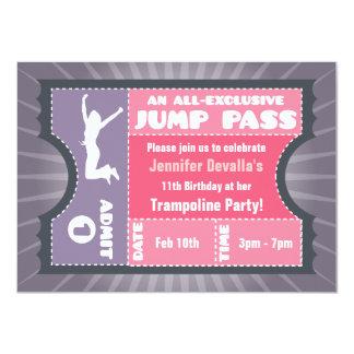 Pink & Purple Trampoline Jump Pass Invitation