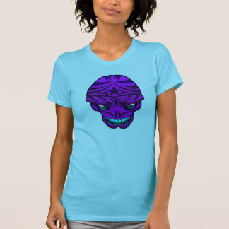Pink purple tribal skull shirt