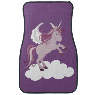 Pink Purple Unicorn Cloud Car Mat