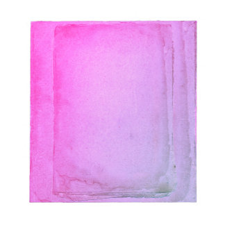 Pink Purple Watercolor Sheets Notepad