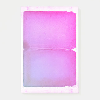 Pink Purple Watercolor Sheets Post-it Notes