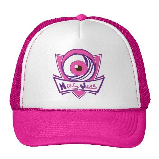 Pink, Purple & White MulWear Game Hat