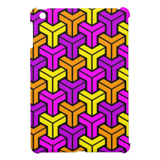 Pink, Purple, Yellow, Orange Geometric Pattern iPad Mini Cases